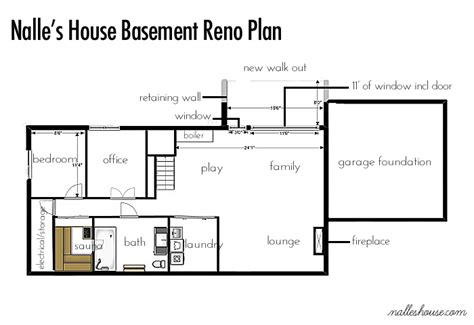 basement plans nalle s house basement before tour