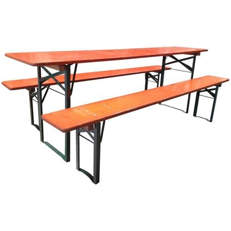 garden table bench set vintage folding german beer garden table sets for sale at