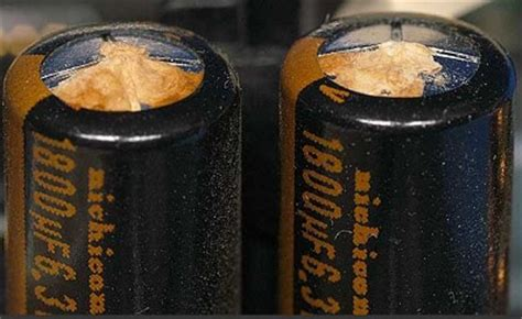 fix leaking capacitor capacitor is leaking or swollen