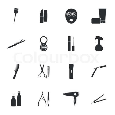 beauty layout vector beauty salon flat icons set vector graphic design stock