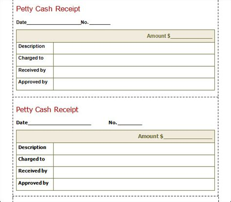 petty receipt template sle receipt template 21 free documents in pdf word