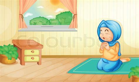 Bedroom Tax Muslim Prayer Muslim Praying Stock Vector Colourbox