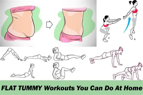simple flat tummy workouts     home healthy