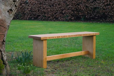 engraved benches engraved oak benches makemesomethingspecial com