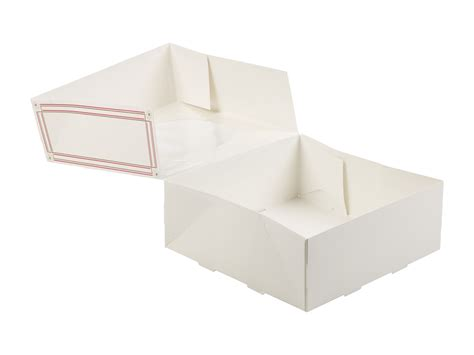 cardboard window boxes 4 x square self build cardboard presentation cake boxes