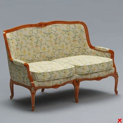 old fashioned couch 3dsmax sofa old fashioned