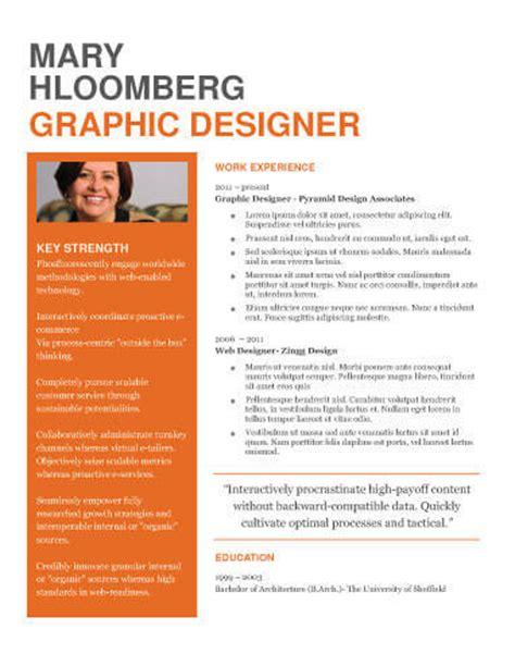 bold resume template resume ideas