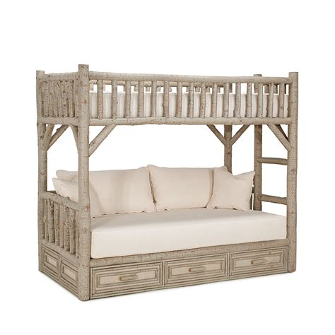 rustic bunk beds rustic bunk bed with drawers la lune collection