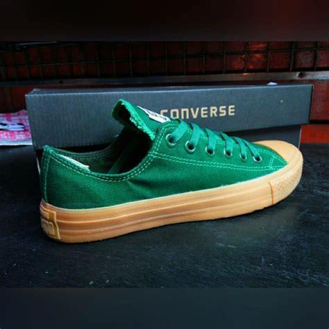 Promo Sepatu Casual Pria Converse Ct Low White Sol Gum Original Premiu jual sepatu converse all ct low hijau geum grade ori di lapak yl shoes lily090794