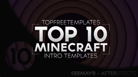 Best Top 10 Free Minecraft Intro Templates Sony Vegas After Effects Cinema 4d Youtube Top Free Templates