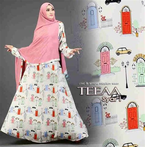 09 Maxi Maxmara Andini Tosca baju gamis syar i reaja teeaa motif terbaru busana muslim