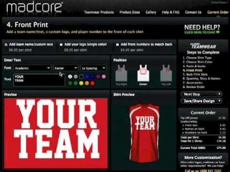 jersey design maker software madcore custom sportswear online uniform builder and shirt
