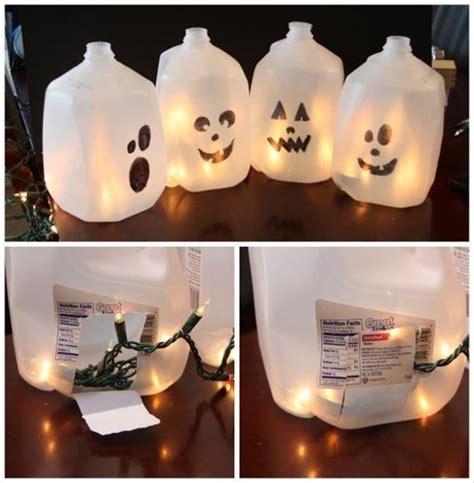 diy halloween milk jug ghosts pictures   images