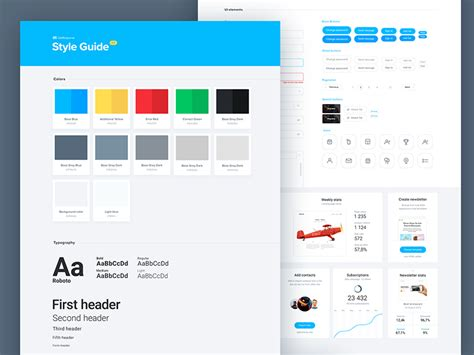 layout style guide ui style guide by michael korwin dribbble