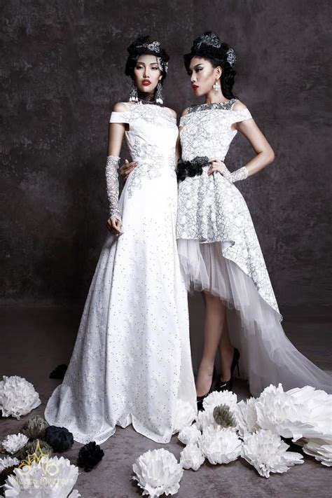 beading on the wedding dress to the right reminds me of indian left a line wedding dress with cut out detail bead lace