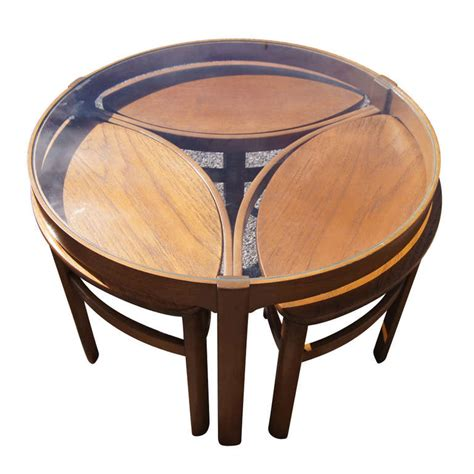 Nested Coffee Table Vintage Nesting Coffee Table Set For Sale At 1stdibs