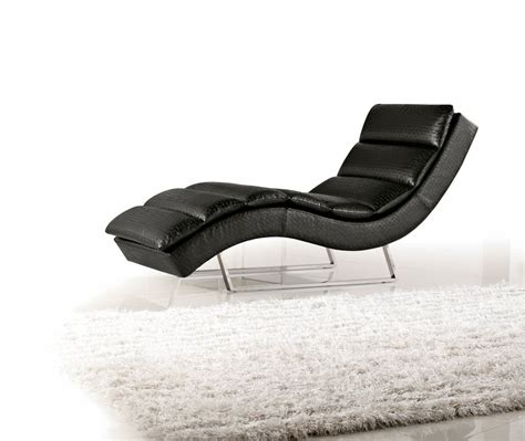 modern leather chaise lounge 1185 modern black eco leather chaise