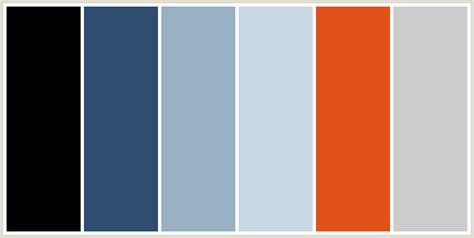 silver blue color colorcombo196 with hex colors 000000 2f4e6f 98b1c4