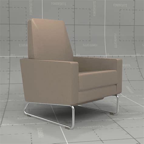 dwr flight recliner dwr flight recliner 3d model formfonts 3d models textures