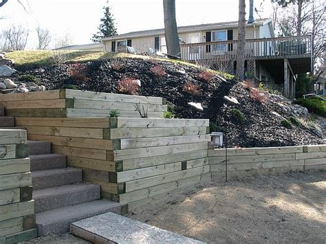 Landscape Timber Michigan Retaining Walls
