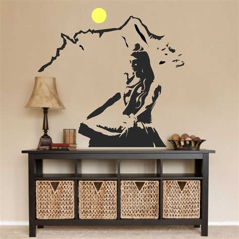 wall decals for home decorating lord shiva wall decal hindu prayer decals car decals
