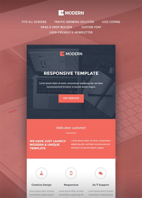modern responsive email template buy premium modern