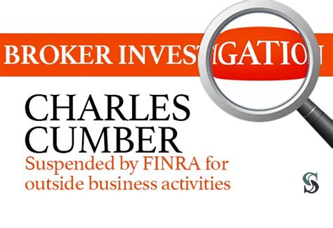 investigation charles cumber broker suspended  finra   business activities sonn