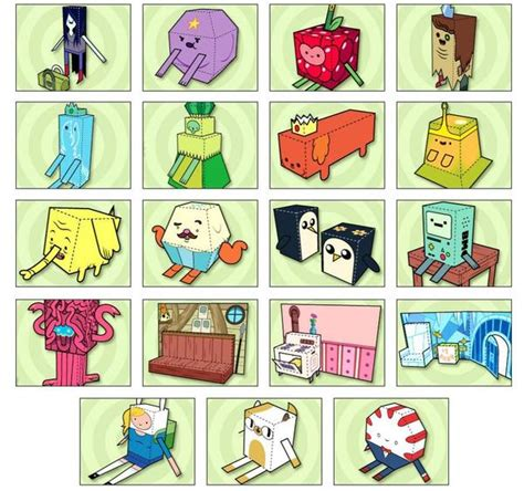 Adventure Time Paper Crafts - adventure time themed paper crafts gadgetsin