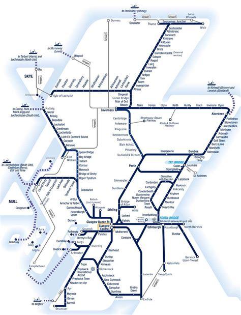 spirit  scotland travelpass route map scotland