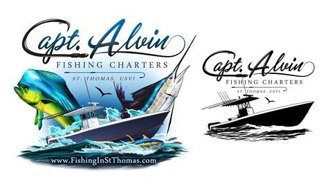 fishing boat name fonts capt alvin charters st thomas marine logos websites