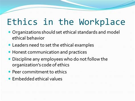 ethics and developing an effective work ethic ppt