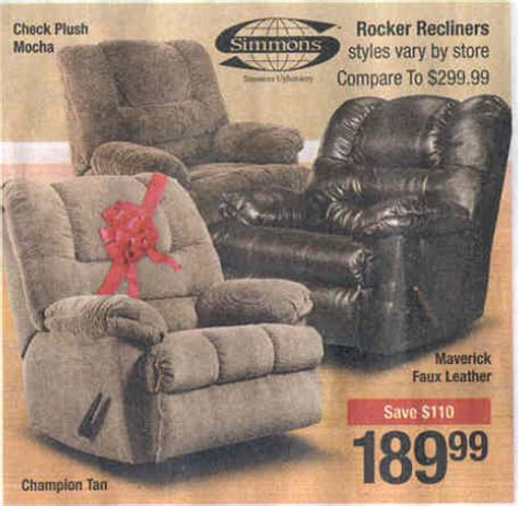 black friday rocker recliner deals black friday deal simmons rocker recliner maverick faux