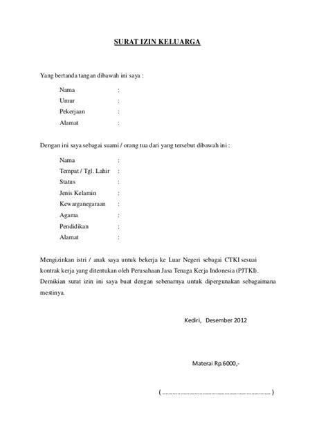 Contoh Surat Izin Orang Tua Untuk Mengikuti Kegiatan