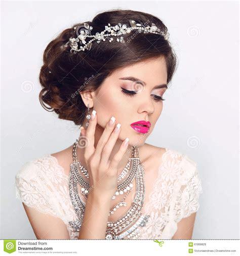 beauty fashion model girl  wedding elegant hairstyle