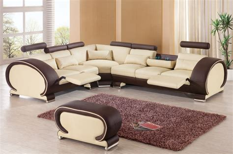 Leather Sofa Set For Living Room 2015 Designer Modern Top Graded Cow Recliner Leather Sofa