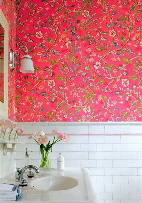 wall paper bathroom wallpaper in bathrooms babymac