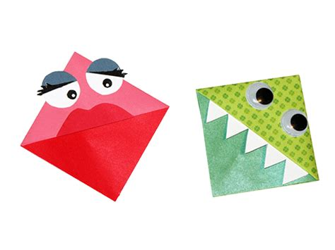 Origami Monsters - origami bookmarks rr