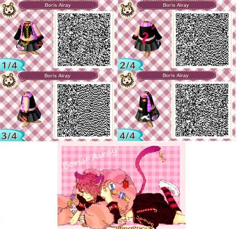 clothing themes animal crossing new leaf re the qr code database page 11 name of design boris