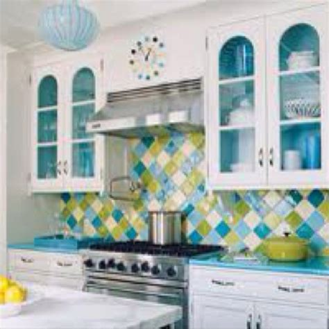 blue and green kitchen aqua blue and lime green kitchen for my home