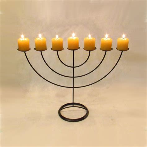 candelabro judaico candelabro 7 bra 231 os no elo7 velitas velas e ferros