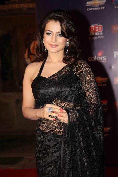 Royal Top Blouse Hq amisha patel black lace saree wedding lace saree black laces and saree