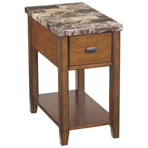 ashley accent tables ashley furniture breegin 1 drawer end table in brown