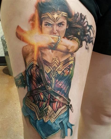 wonder woman tattoo gal gadot work in progress