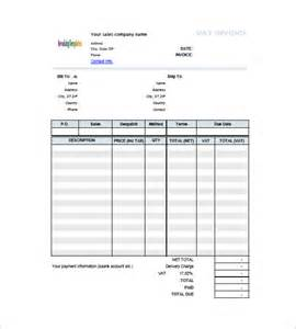 invoice template with vat invoice template with value added tax 8 free word