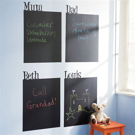 chalkboard wall stickers personalised chalkboard wall sticker by spin collective notonthehighstreet