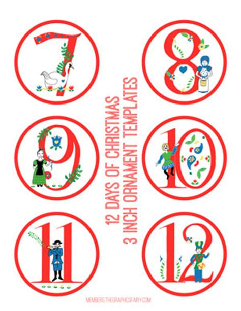 12 Days Of Images Printable