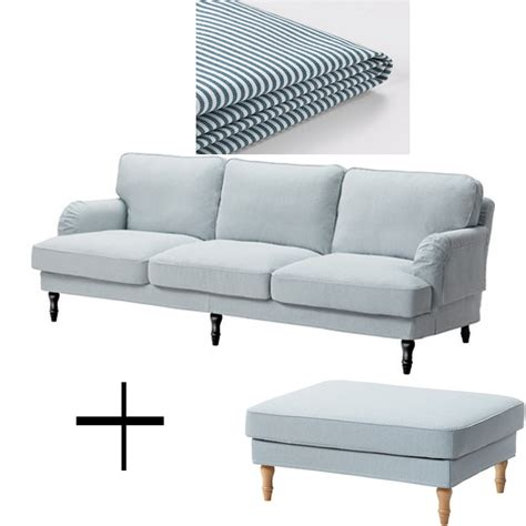 sofa and footstool ikea stocksund 3 5 seat sofa and footstool ottoman