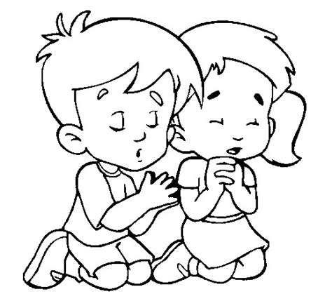 Child Praying Coloring Page two child prayers coloring pages for drz printable
