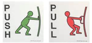 Push Pull Sign For Glass Door Push Signs Pull Signs Door Signs Stickers Details