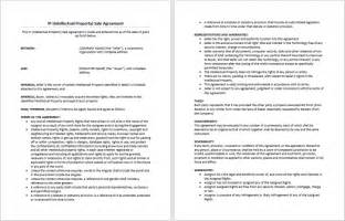 agreement template great ip sale agreement template exle for software